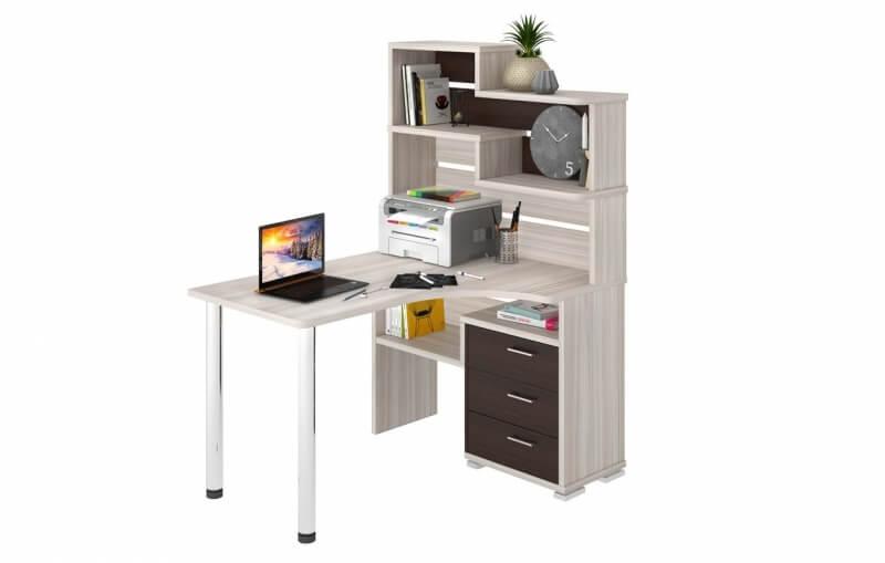 Компьютерный стол СР-132 с гадстройкой