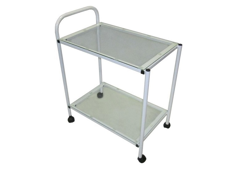 Стол инструментальный 2П стекло