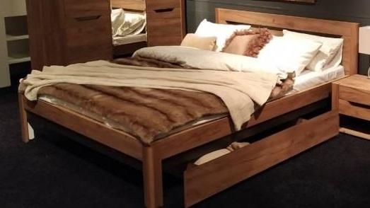 Кровать Афина Мод.А3 (дуб крафт табачный галифакс)