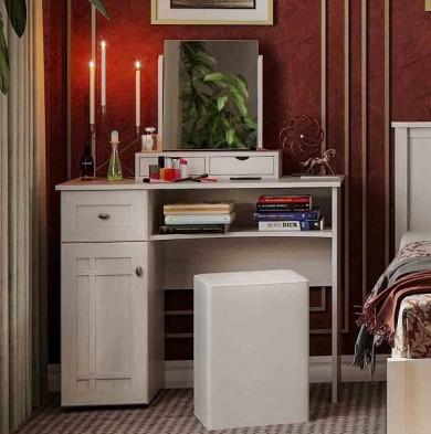 Стол туалетный Sherlock 53+ трюмо с ящиками 55 (ясень анкор светлый)