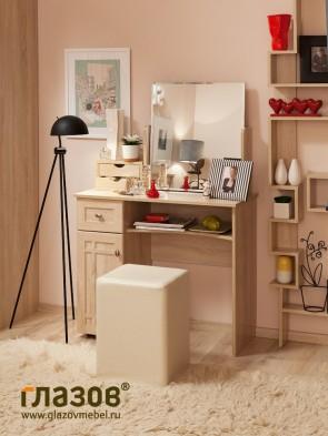 Стол туалетный Sherlock 53+ трюмо с ящиками 55 (дуб сонома)