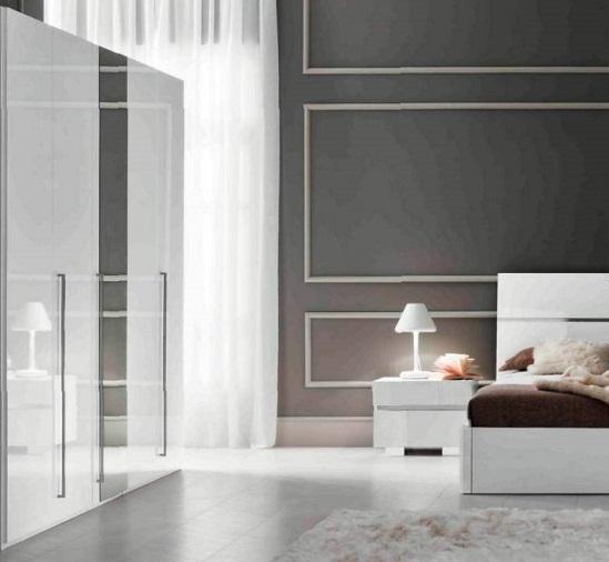 Шкаф с зеркалом DREAM White (шесть дверей)