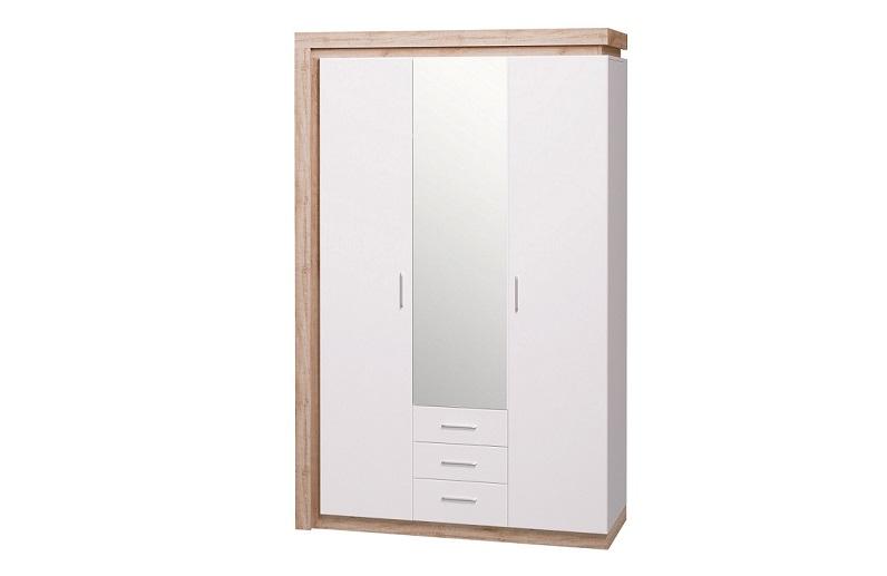 Шкаф для одежды трехдверный с зеркалом Люмен №15