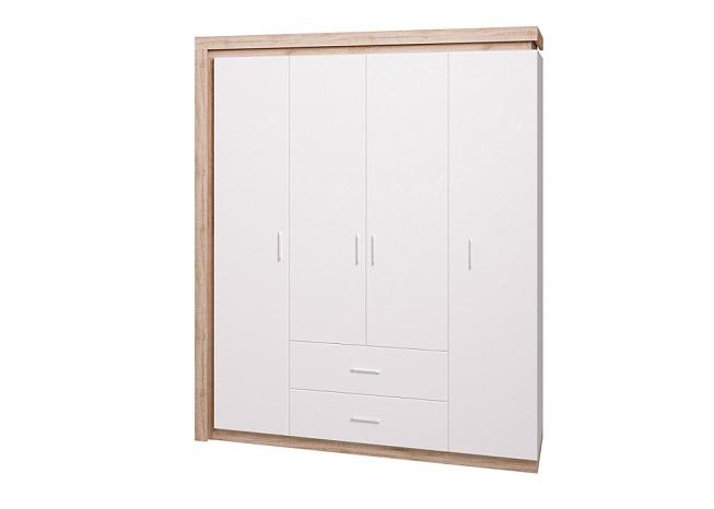 Шкаф для одежды четырехдверный Люмен №16