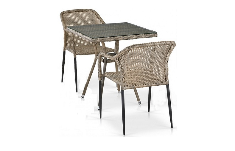 Комплект плетеной мебели T282BNT/Y35G-W1289 Pale 2Pcs