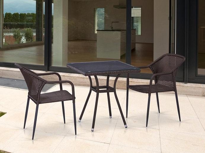 Комплект плетеной мебели T282BNT/Y35-W2390 Brown 2Pcs