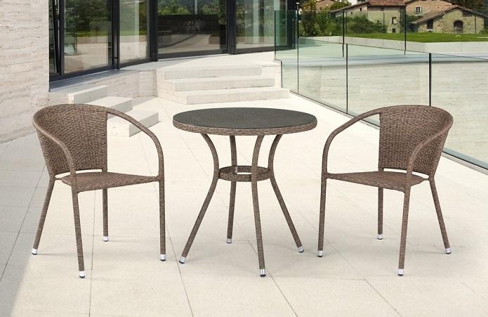 Комплект плетеной мебели T282ANT/Y137C-W56 Light Brown 2Pcs