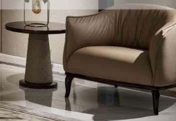 Кресло MK-8129 88х80х74 см Светло-бежевый
