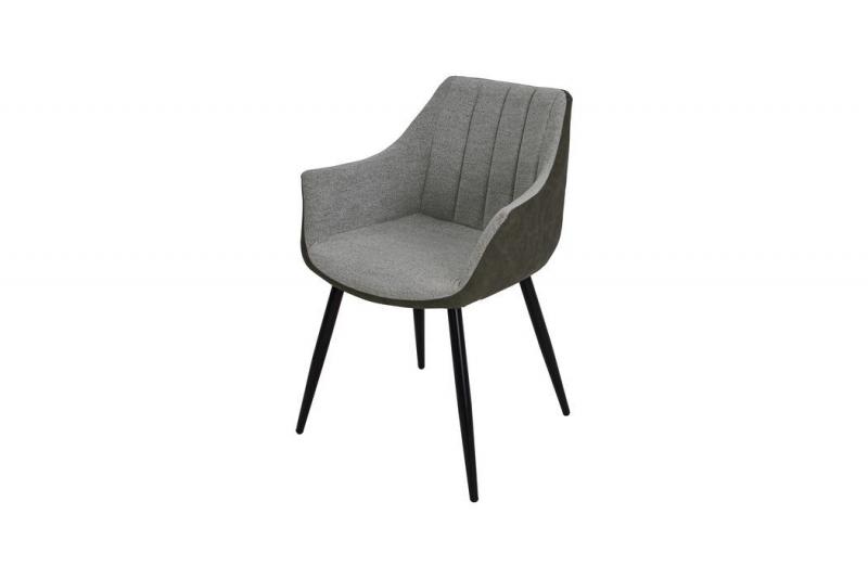 Кресло UDC8127 Belinda MK-7208-GN 59х57х83 см Светло-серый/темно-оливковый