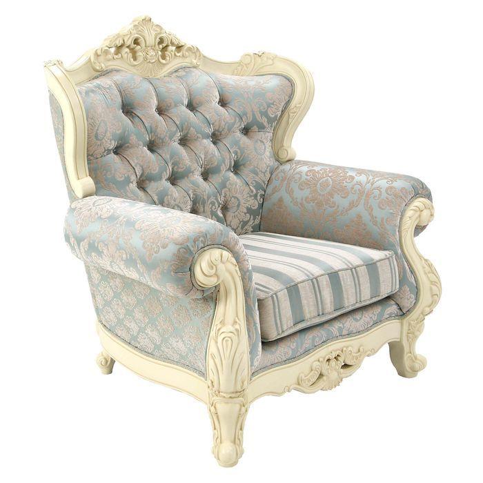 Кресло Милано 8802-А MK-1827-IV (цвет патины: золото) 115х90х116 см Слоновая кость