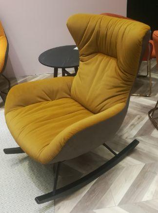 Кресло-качалка DX-1943-1 MK-6933-BG 72х90х93 см Бежевый