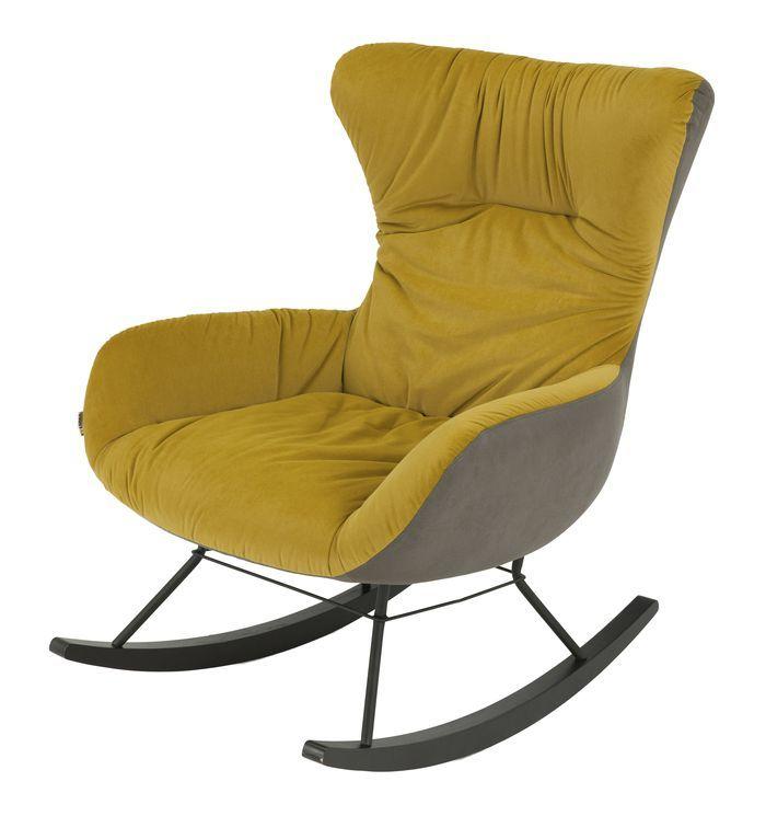 Кресло-качалка DX-1943-1 MK-6933-YL 72х90х93 см Желтый
