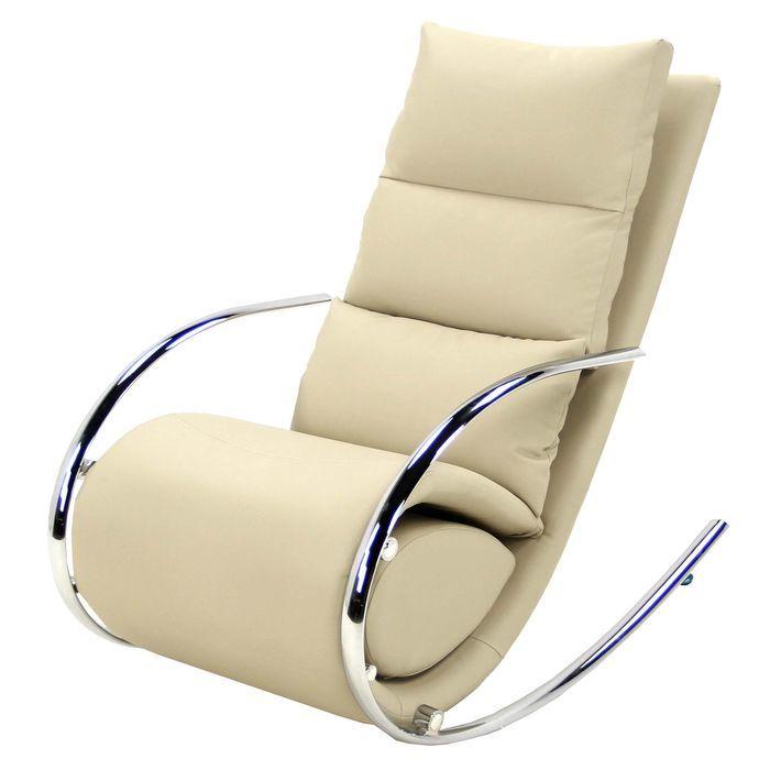 Кресло-качалка Магнус MK-5503-BG с пуфом 67х102х111 см Бежевый