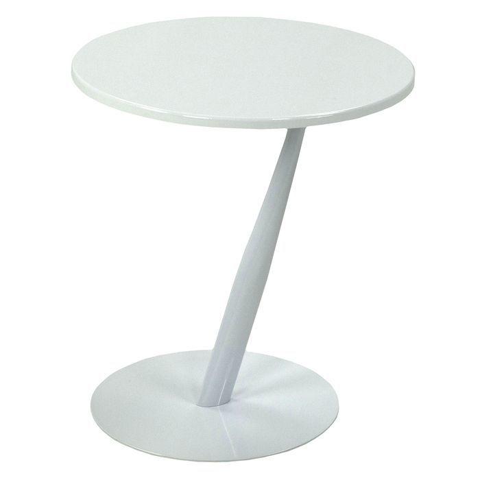 Столик приставной MK-6328-WT 45х45х50 см Белый