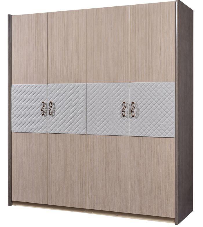 Шкаф MK-8106 4-х дверный 191х60х210 см Светло-бежевый