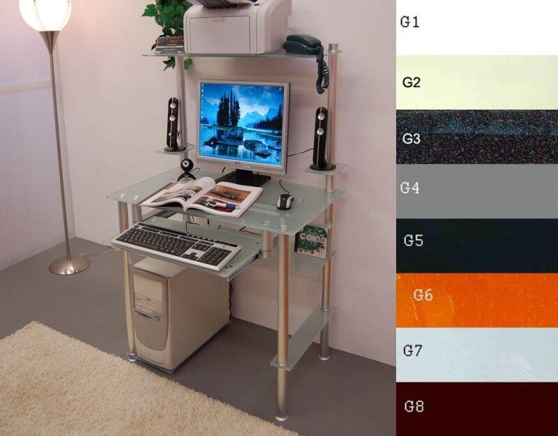 Компьютерный стол G004/G2 стекло матовое