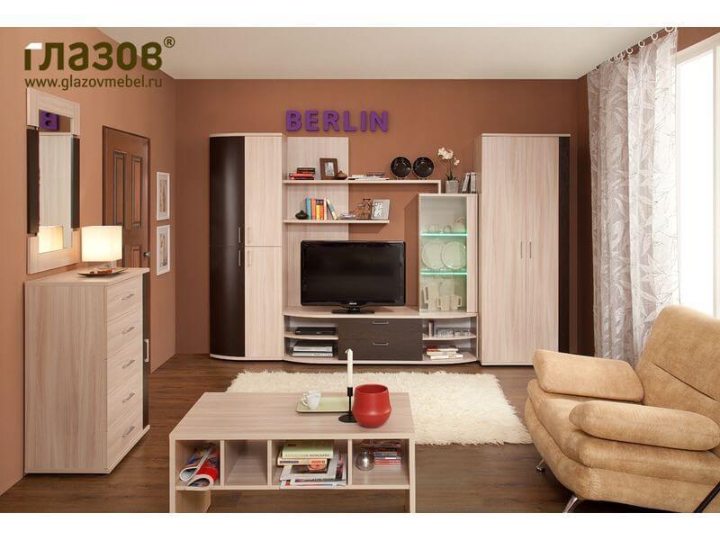 Комплект светлой мебели BERLIN 2 с шкафом