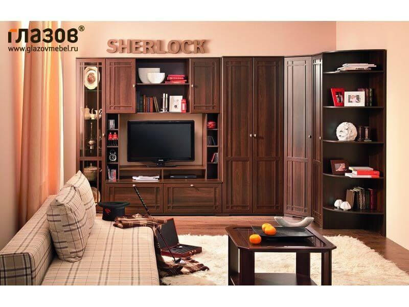 Угловая мебельная стенка Sherlock 2 для гостиной