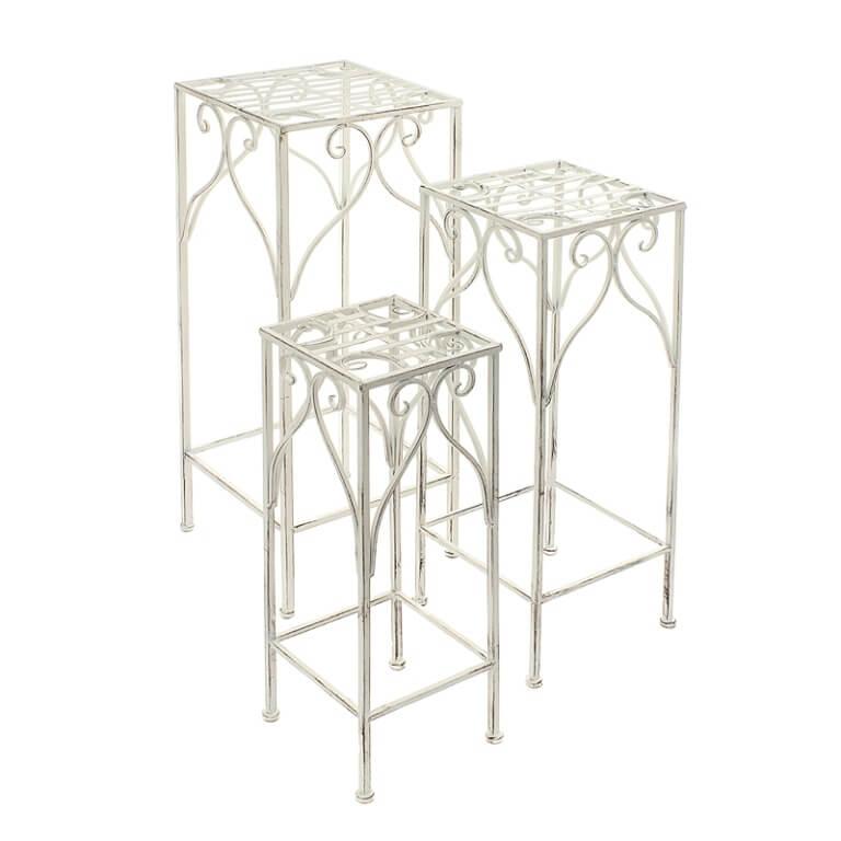 Столики высокие квадратные набор из 3-х PL08-6183