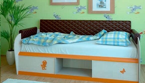 Кровать МДК 4.13 изд. 12.2 (два ящика) + спинка изд. 7