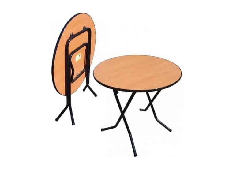 Складной круглый придиванный стол 16 ДМ 6-58 КТ РИ