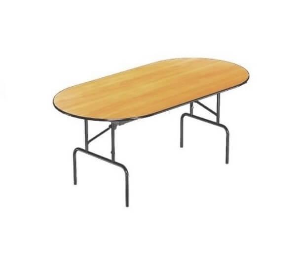 Складной стол Овальный-156 16 ДМ 156-75 ОТ ПЕ