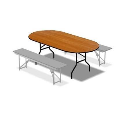 Складной стол Овальный-159 16 ДМ 159-75 ОТ ДЕ