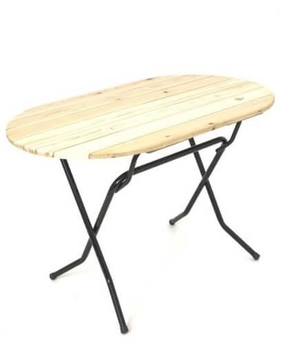 Складной стол Овальный-126 18 РС 126-76 ОН РИ
